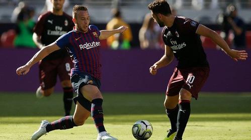 Video: Vắng Messi - Suarez, Barcelona thua tiếp Milan ở ICC Cup 2018