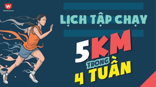 Lịch tập chạy 5km trong 1 tháng ai cũng có thể tập