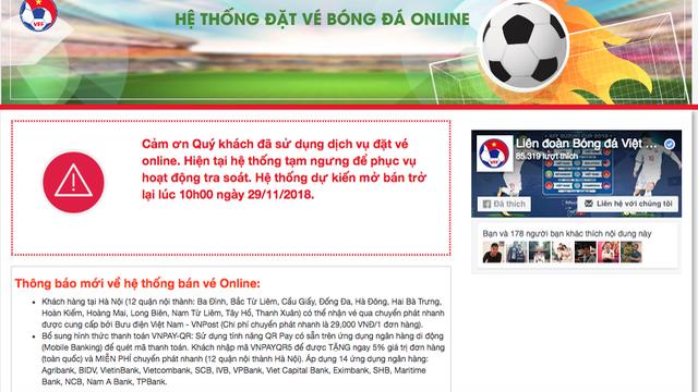 10h sáng nay VFF bán tiếp 15% lượng vé online trận Việt Nam - Philippines