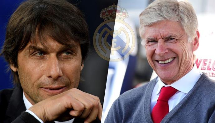 Vị trí HLV trưởng Real Madrid: Nhà cái ưu tiên Wenger hay Conte?