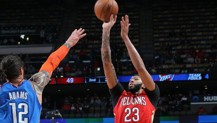 Video kết quả NBA 2018/19 ngày 13/12: Oklahoma City Thunder - New Orleans Pelicans