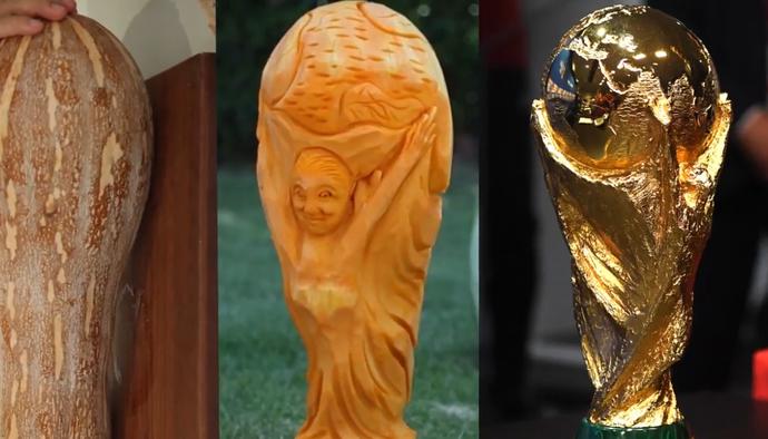 Chiêm ngưỡng cúp vàng World Cup 2018 của ĐT Pháp phiên bản... quả bí ngô
