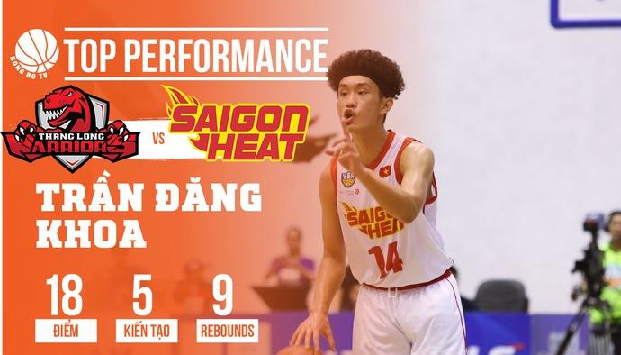 Những cú ném 3 điểm của Khoa Xù giúp Saigon Heat hạ gục Thang Long Warriors ngay tại Sư Phạm