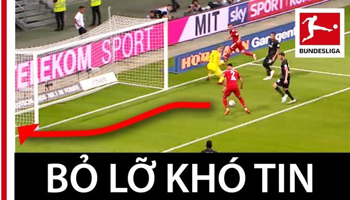 Video hài hước: Pha bỏ lỡ khó tin khiến HLV Bayern Munich phì cười ngoài đường biên