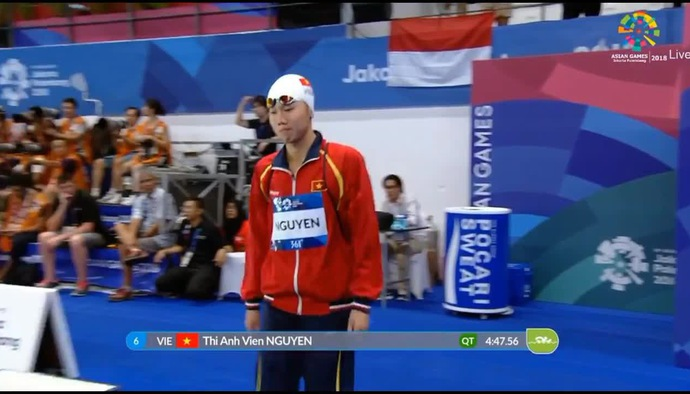 Phần thi của Ánh Viên tại chung kết 400m hỗn hợp nữ tại ASIAD 2018