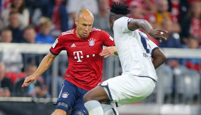 """Công nghệ VAR """"cướp"""" bàn thắng của Robben trong trận đấu Bayern Munich - Hoffenheim"""