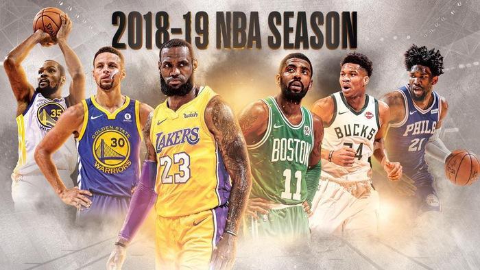 Lịch thi đấu NBA 2018/19 Regular Season trực tiếp trên VTVCab