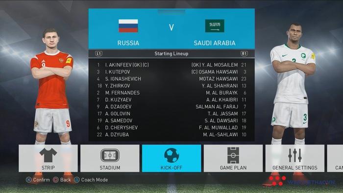 PES WORLD CUP | #1 | ĐỘI TUYỂN NGA GỤC NGÃ NGÀY RA QUÂN
