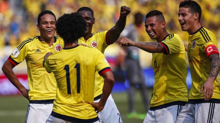 Kết quả hình ảnh cho đội tuyển colombia