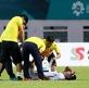Video: Đức Chinh hết hơi, đổ gục xuống sân sau trận gặp Olympic Nhật Bản